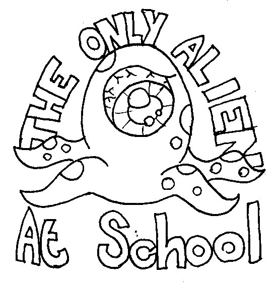 Only Alien At School Embroidery Pattern