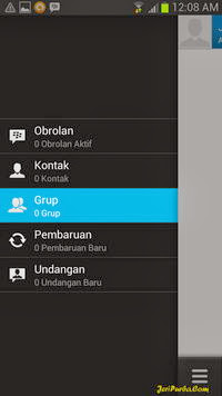 Menu di Panel BBM For Android