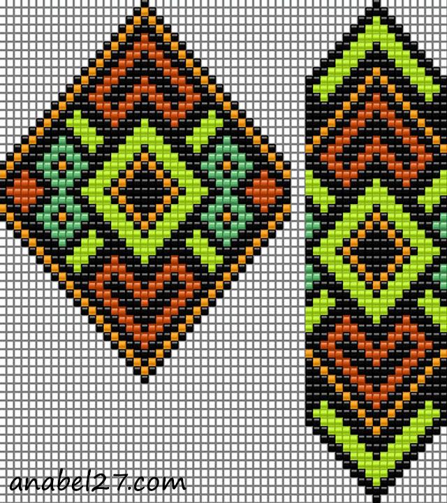 схема гердана (гайтана) free bead loom pattern