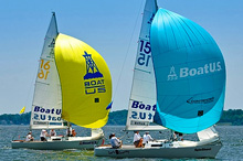 J/22 one-design sailboats- sailing Santa Maria Cup Annapolis, MD