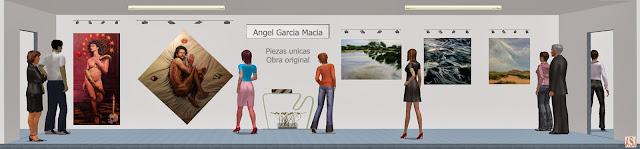 Sala de exposición virtual de pinturas de Ángel García Maciá