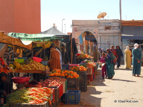 Street market in North Africa. Photo courtesy of 1dad1kid
