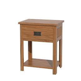 Mission Nightstand with Shelf
