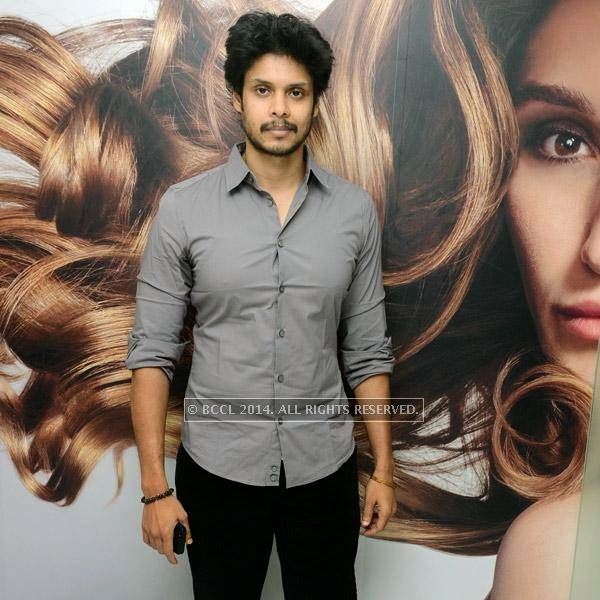 Krishnadev at the launch of Essensuals salon in Chennai.