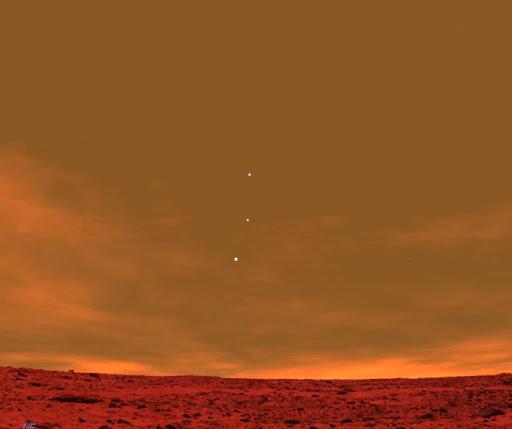 從火星看地球