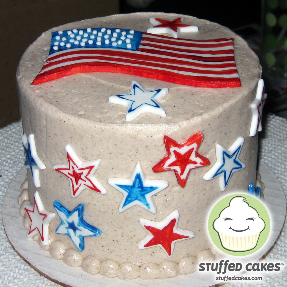 Stuffed cakes american pride mini cake for American flag cake decoration