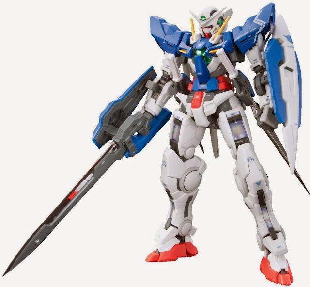 Gundam Exia RG 1/144 kích thước khi hoàn thành cao ~ 13 cm