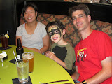 Maria, Eidan, and Mike at Marco's Pizza in Denver