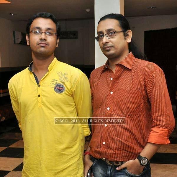 Soummo and Supriyo during audio launch of Ei Raat Tomar Amar at Kasba, Kolkata.