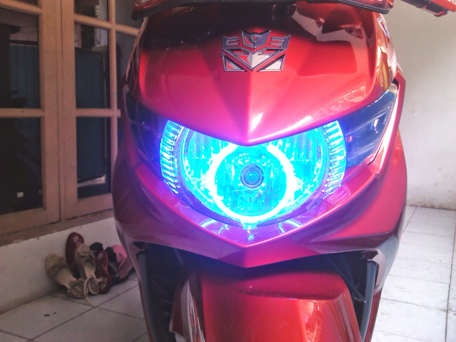 Modifikasi Soul Gt Warna Biru