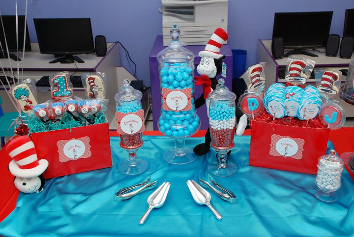 cat in the hat candy table