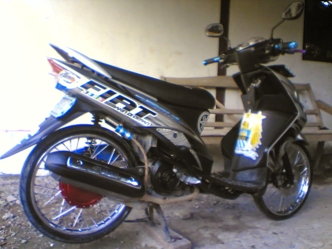 Modifikasi Mio Soul Gt Warna Biru