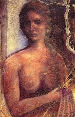 maenad, fresco, roman, pompeii, woman, naked, lora