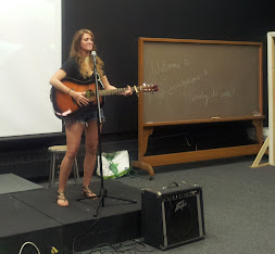 Lauren Miller at the Open House Open Mic
