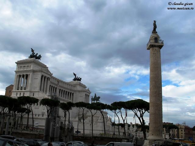 Monumentul lui Vittorio Emanuelle II, Columna lui Traian