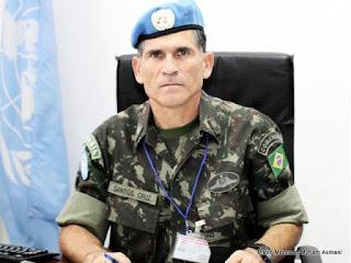 Le lieutenant-général Carlos Alberto Dos Santa Cruz, chef d'Etat-major des forces armées de la Monusco (Juin 2013)