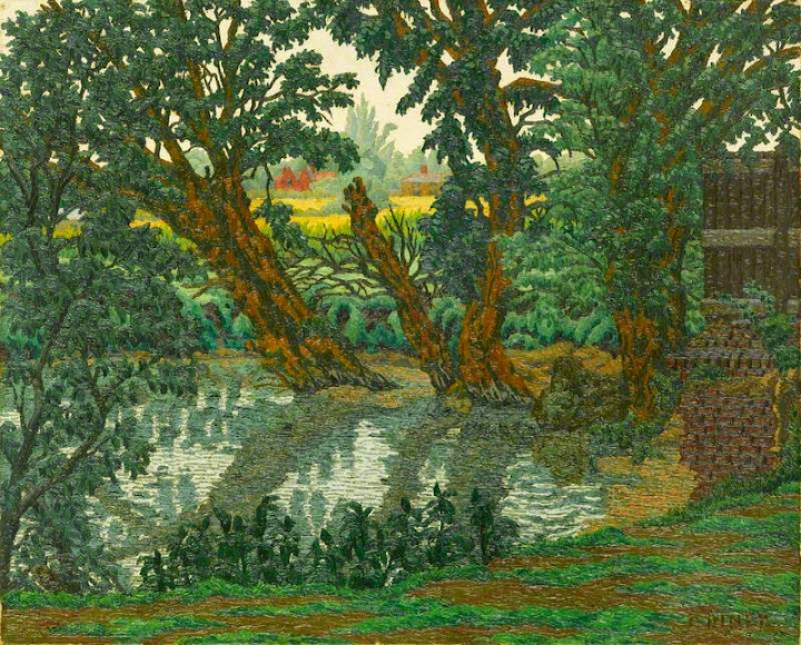Charles Ginner - The Rib, Standon, 1939