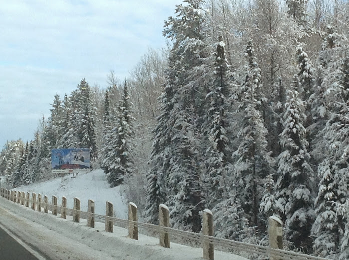 Winter road, Northern Ontario