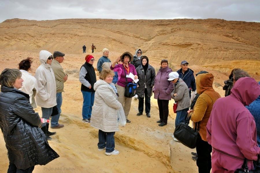 Экскурсия гида Светланы Фиалковой в пустыню Негев. Рассказ о кратере Махтеш Гадоль.