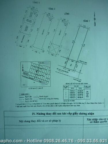 Bán nhà Lạc Long Quân , Quận 11 giá 3, 3 tỷ - NT116