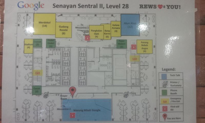 peta kantor