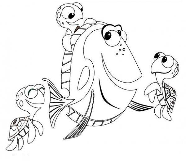 Imagenes Para Colorear: Imágenes Para Colorear de Nemo