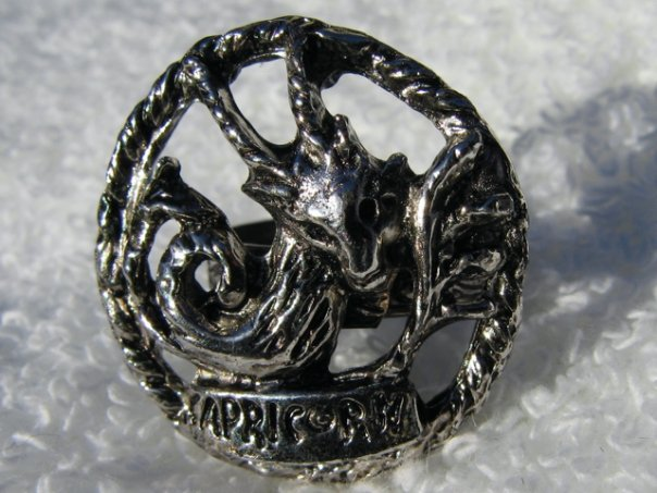 Capricorn Silver Brass Ring