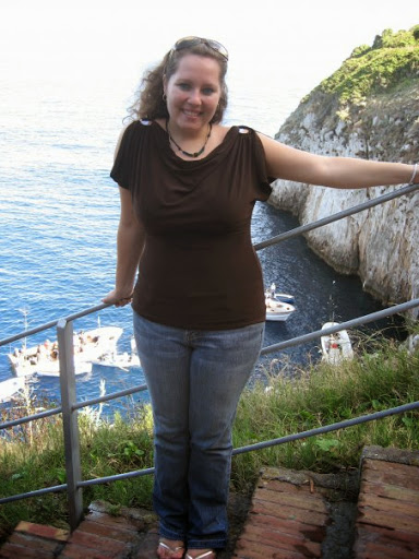 Stasia Lopez in Capri, Italy