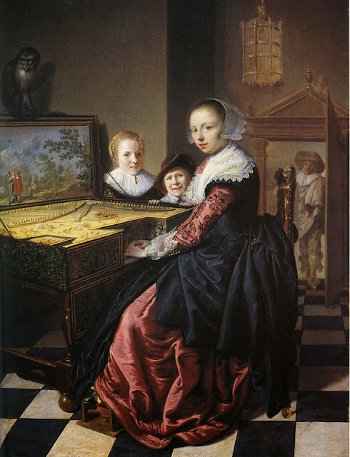 Jan Miense Molenaer - Woman playing a virginal