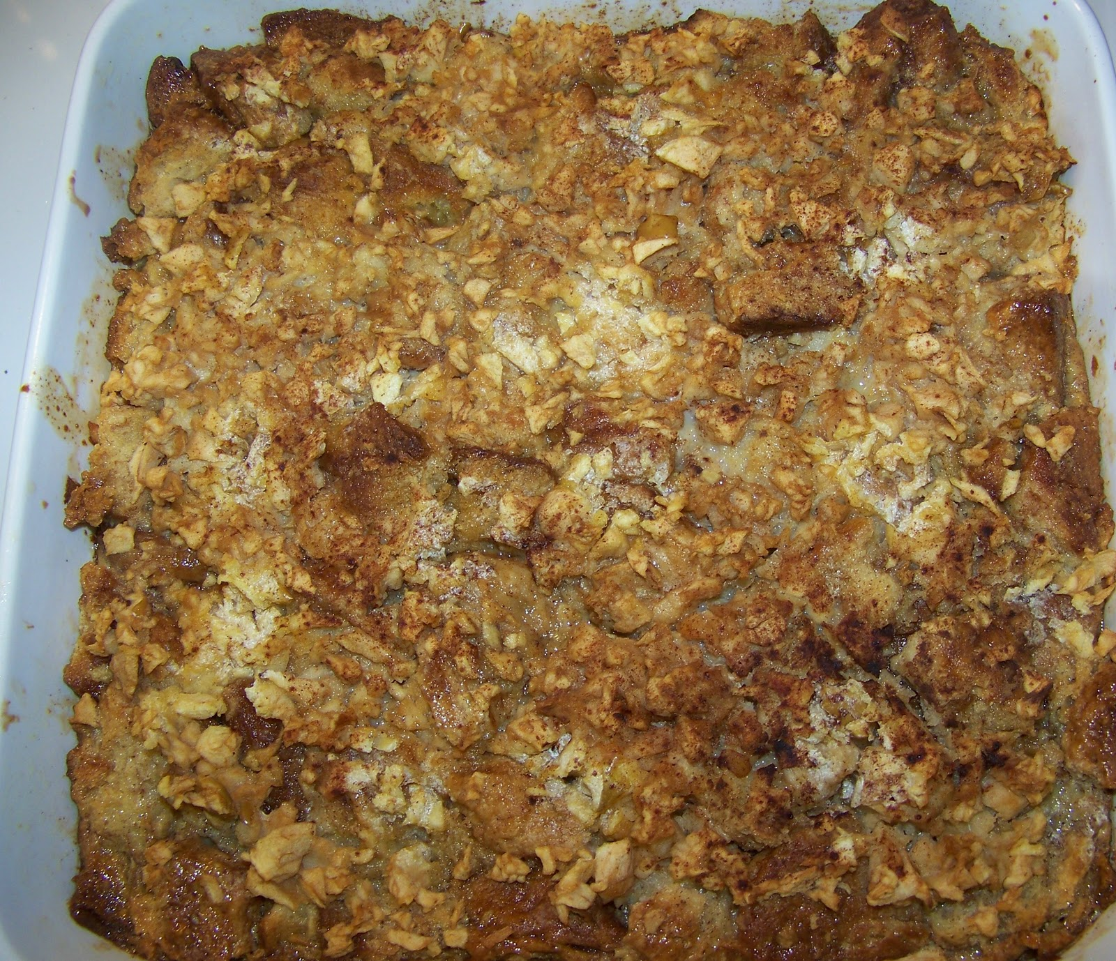 Curry and Comfort: Cinnamon-Apple Bread Pudding with Caramel Sauce