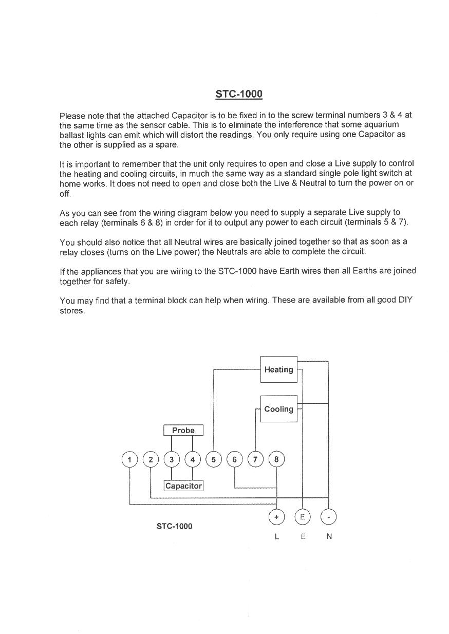 Istruzioni Stc 1000 Wiring Diagram