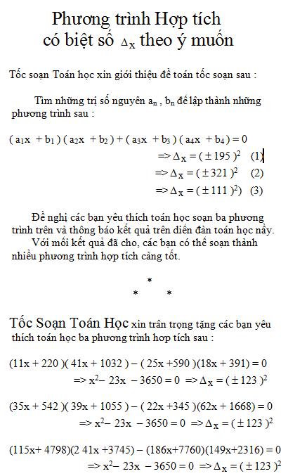 Phuong trinh hop tich