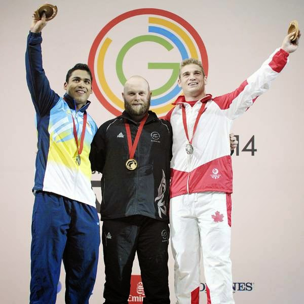 Thakur was trailing at third with a lift of 150kg after completion of snatch though the gap with the leaders -- Patterson and Plamondon -- was just one kilogram. The Indian began with 142kg and then went onto lift 147kg and 150kg in his next two attempts.