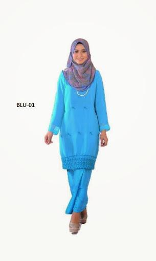 baju kurung moden biru baju raya 2014 online murah