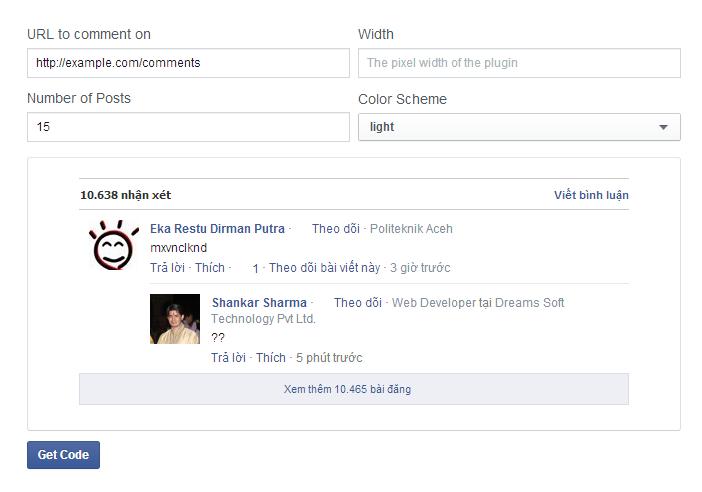 Tạo và quản lý comments facebook cho wordpress