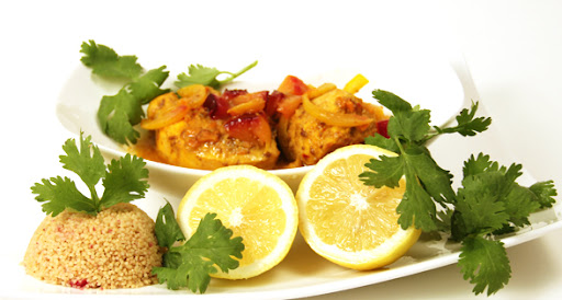 Moroccan Inspired Feast: (Tagine) Roasted Chicken, Pluots & Couscous Recipe (low sodium)