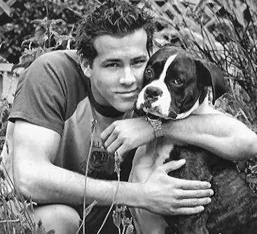 Ryan Reynolds and a dog