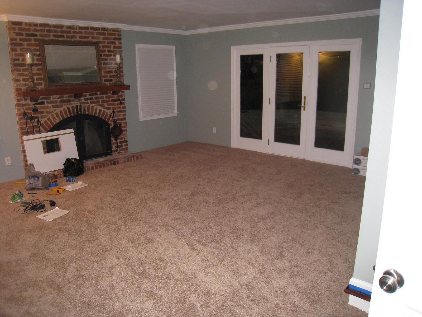 Nice Family Room Carpet Ideas Part - 8: Family Room Progress (New Carpet)
