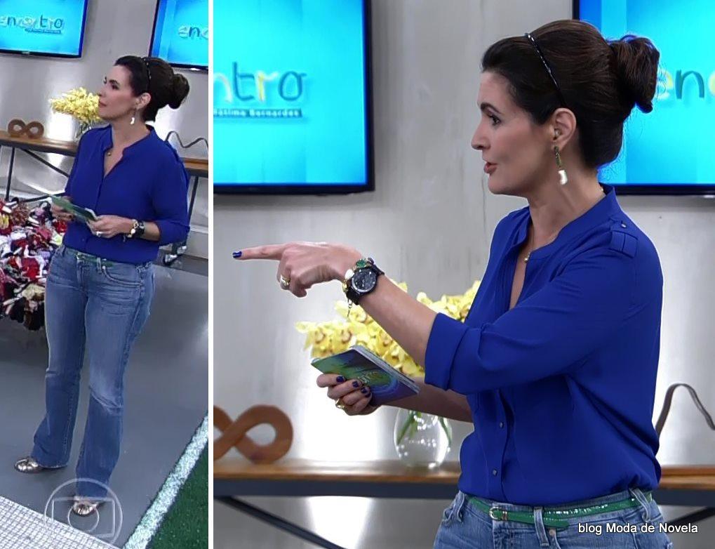 moda do programa Encontro - look da Fátima Bernardes dia 17 de junho