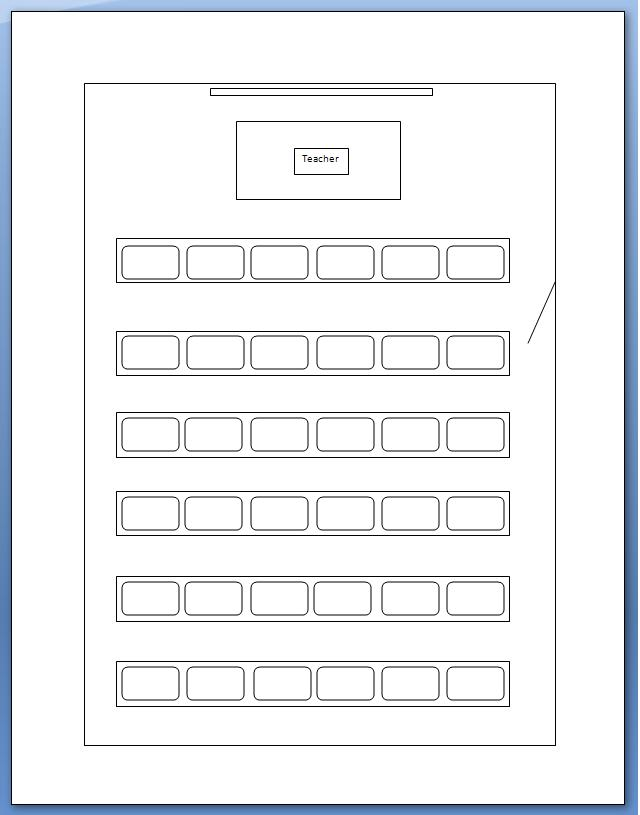 computer lab seating chart template