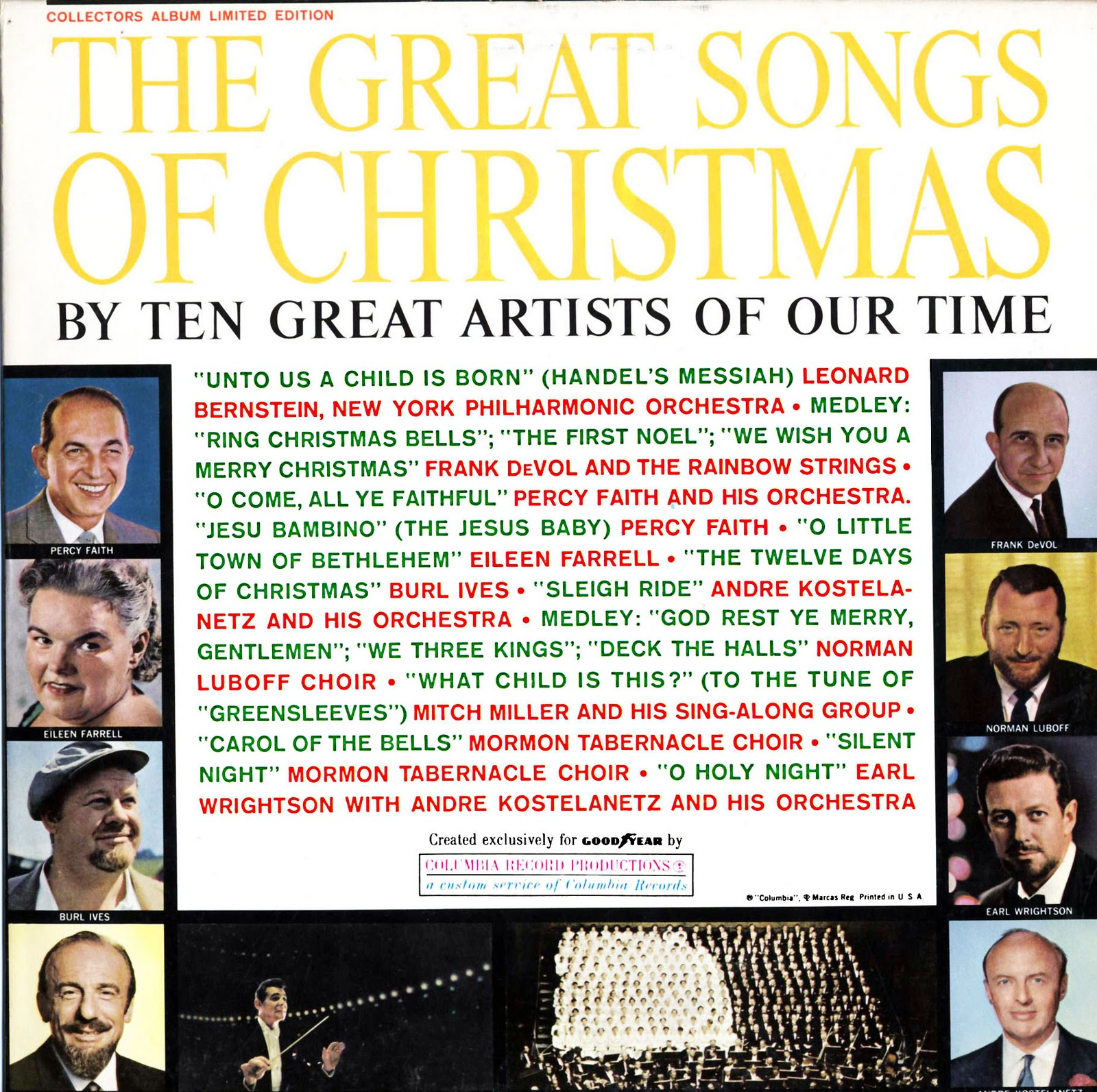 Goodyear Great Songs of Christmas Volume 1   Unforgettable Christmas ...