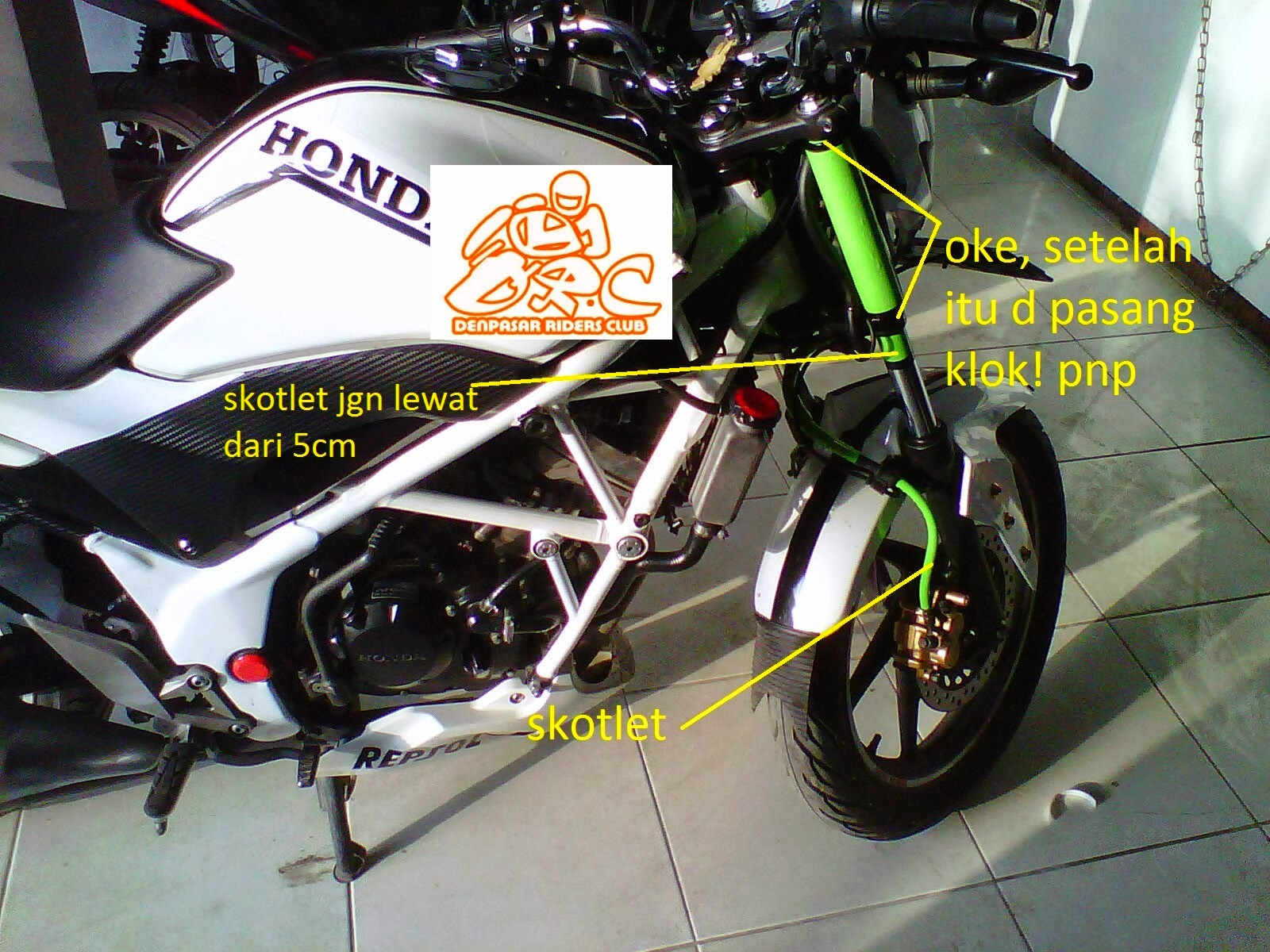 cb150r modifikasi fairing