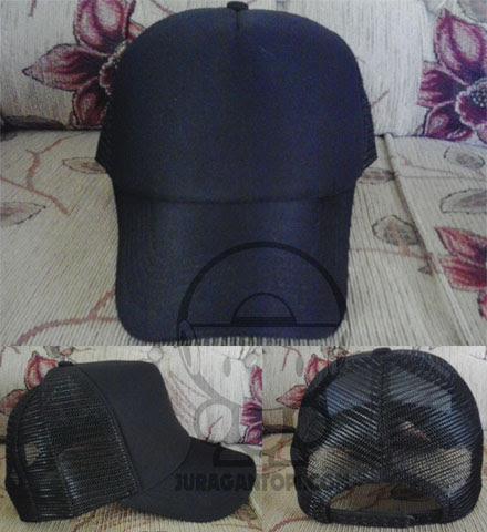 Topi jaring polos warna hitam. Jual Topi Polos 30b3ffa374