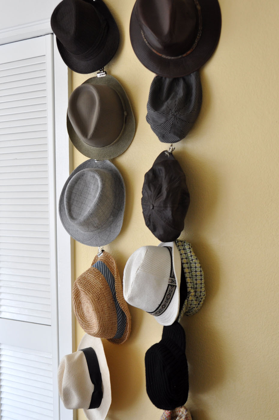 Simple storage solutions hang your hat for Hat hanging ideas