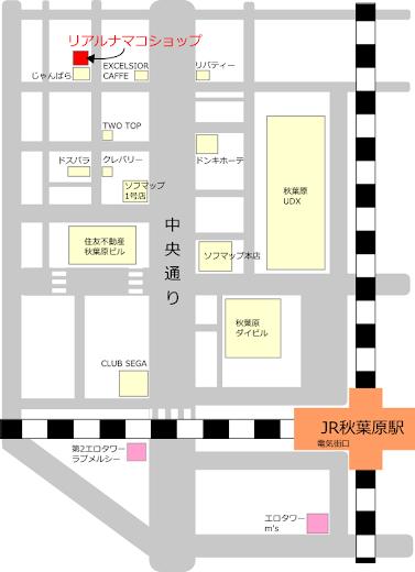 リアルナマコショップの地図