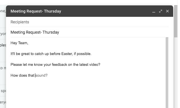 Gmail auto response