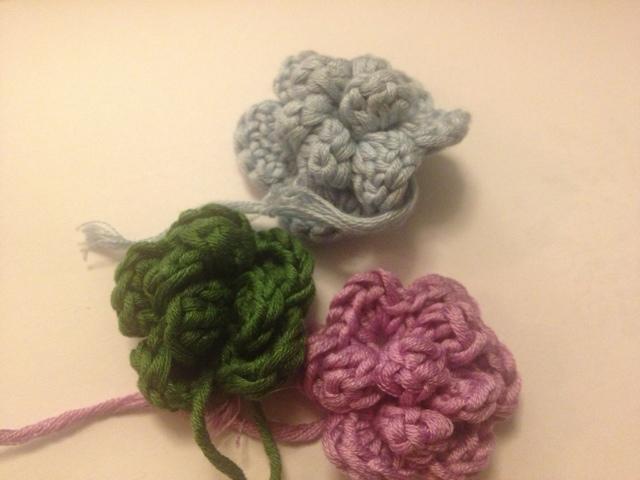 hæklede blomster DIY