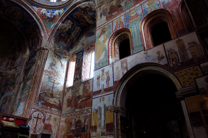 Frescoed walls of Church of the Virgin, Gelati Monastery