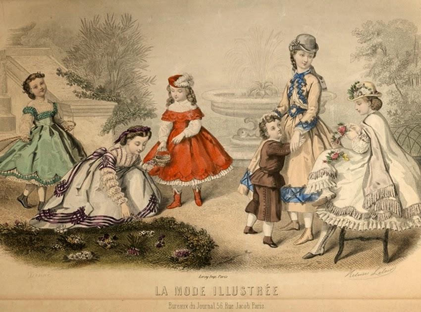 дети, одежда, иллюстрации, журнал, история, XIX век, музей детства