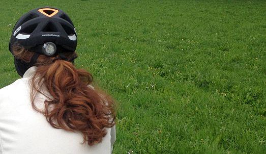 Anna: Helm und Haare